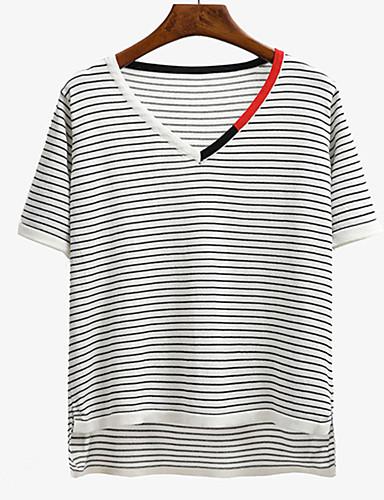 25905f93bfde Γυναικεία T-shirt Εξόδου   Καθημερινά Κομψό στυλ street Ριγέ ...