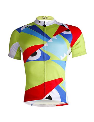 povoljno Odjeća za vožnju biciklom-ILPALADINO Muškarci Kratkih rukava Biciklistička majica Svijetlo zelena Bicikl Biciklistička majica Majice Brdski biciklizam biciklom na cesti Prozračnost Quick dry Ultraviolet Resistant Sportski