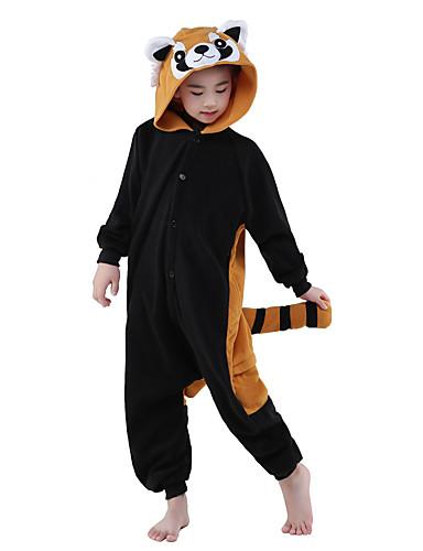 povoljno Maske i kostimi-Rakun Kigurumi Dječji Pidžama Božić Halloween Karneval Festival / Praznik Flis Brown black Karneval kostime