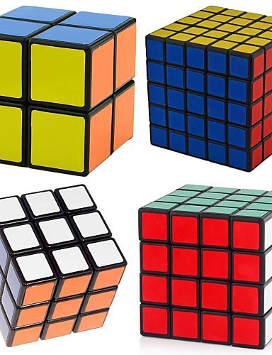 preiswerte Spielzeuge & Spiele-4 Stücke Magischer Würfel IQ - Würfel Shengshou 2*2*2 3*3*3 4*4*4 5*5*5 Glatte Geschwindigkeits-Würfel Magische Würfel Zum Stress-Abbau Puzzle-Würfel Profi Level Geschwindigkeit Professionell