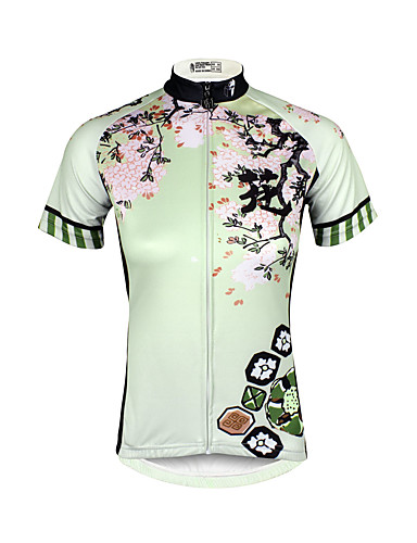 cheap Massive Clearance Sale-ILPALADINO Women's Short Sleeve Cycling Jersey Plus Size Bike Jersey Top Mountain Bike MTB Road Bike Cycling Breathable Quick Dry Ultraviolet Resistant Sports Clothing Apparel / Stretchy