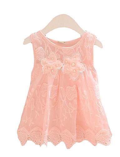 Dívka je Běžné Denní Jednobarevné Léto Šaty Umělé hedvábí Zelená   Růžová    Bílá 5161450 2019 –  13.96 b0c6e1d900