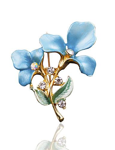 preiswerte Party Zubehör-Damen Broschen Stilvoll Modisch Brosche Schmuck Blau Rosa Golden Für Hochzeit Alltagskleidung