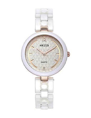 KEZZI Dámské Módní hodinky Křemenný Japonské Quartz Keramika Kapela Běžné  nošení Elegantní Bílá 5566685 2019 –  17.99 5262c90c359