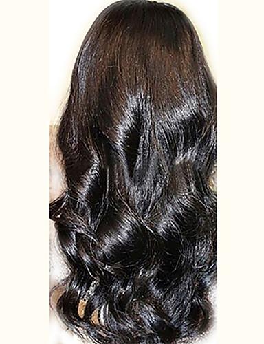 povoljno Perike s ljudskom kosom-Ljudska kosa Netretirana  ljudske kose Perika pune čipke bez ljepila Full Lace Perika stil Peruanska kosa Wavy Perika 130% Gustoća kose s dječjom kosom Prirodna linija za kosu Afro-američka perika