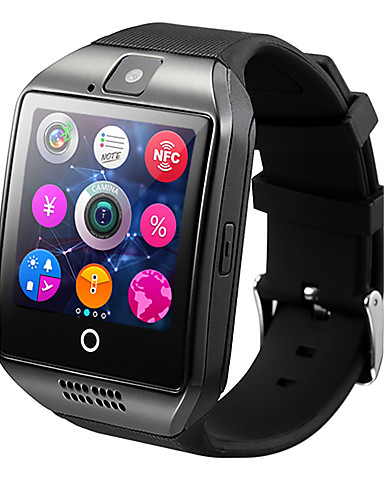 cheap Clearance Deals-Q18 Smart Watch BT Fitness Tracker Support Notify/ Heart Rate Monitor/ Hands-Free Calls with Camera & SIM-card Slot Sports Smartwatch Compatible Samsung/ Android/ Iphone