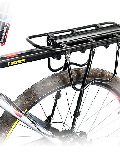 billige Essensielt til sykling-Bike Cargo Rack Maks Lasting 50 kg Justerbare Reflekterende logo Enkel å installere Aluminiumslegering Vei Sykkel Fjellsykkel - Svart