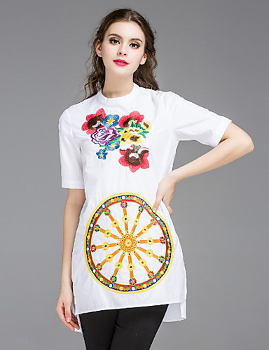 e17fff9e2f94 Dámské Čínské vzory Jdeme ven   Běžné Denní Tunika Šaty Jednobarevné    Výšivka