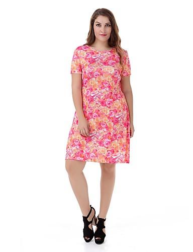 5be2d04d83 Women s Plus Size Floral Dress Large Size Print Casual Club Dress Fashion  Party Dress 5142638 2019 –  7.99