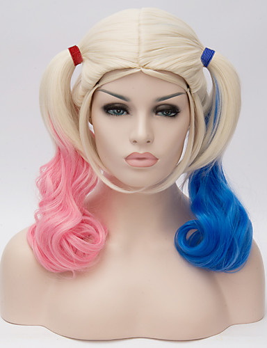 cheap Cosplay Wigs-Synthetic Wig Cosplay Wig Wig Blonde Blonde Synthetic Hair Women's Blonde