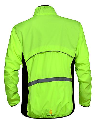 povoljno Odjeća za vožnju biciklom-WOLFBIKE Muškarci Biciklistička jakna Bicikl Vjetronepropusne jakne Majice Vjetronepropusnost Quick dry Ultraviolet Resistant Sportski Poliester žuta / Bijela / Zelen Brdski biciklizam biciklom na