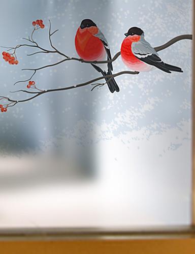 povoljno Kućni ukrasi-Životinja Suvremena Film za prozor, PVC/Vinil Materijal prozor dekoracija Trpezarija Spavaća soba Ured Dječja soba Dnevna soba Kupka soba