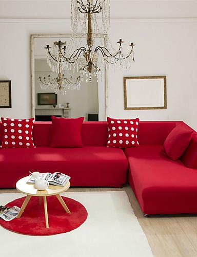 preiswerte Bettbezüge im Angebot-Sofabezug Solide Jacquard 65% Viskose / 35% Polyester Überzüge