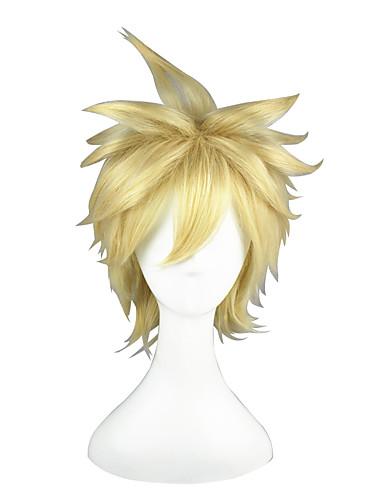 povoljno Maske i kostimi-Toaru Kagaku no Railgun Liberta Cosplay Wigs Muškarci Žene 14 inch Otporna na toplinu vlakna Zlatan Anime
