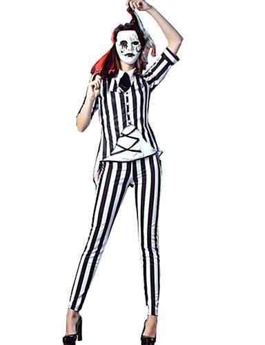 preiswerte Karriere Uniformen-Oktoberfest / Bier Vampire Karriere Kostüme Cosplay Kostüme Party Kostüme Damen Sexy Uniformen Mehre Uniformen Weihnachten Halloween Karneval Fest / Feiertage Terylen Damen Karneval Kostüme Gestreift