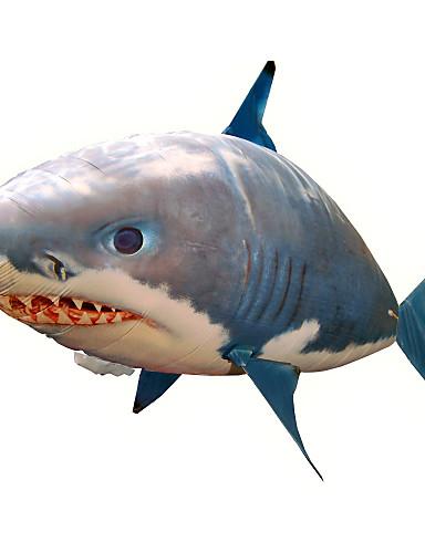 preiswerte Spielzeug & Hobby Artikel-Ferngesteuerter Hai Ferngesteuerte Tiere Fliegender Hai Clownfische Aufblasbar Realistische Bewegung Luftschwimmer Nylon 1 pcs Unisex Spielzeuge Geschenk / ASTM