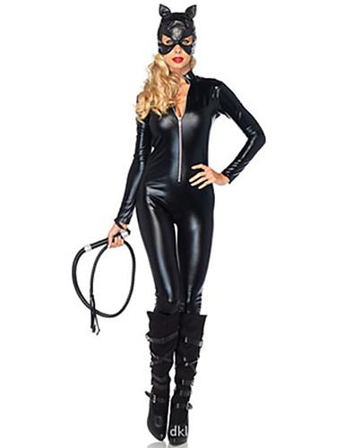 billige Sexy Uniformer-Dame uniformer Bunny Jenter Kjønn Zentai Drakter Cosplay Kostumer Ensfarget Trikot / Heldraktskostymer Mer Tilbehør