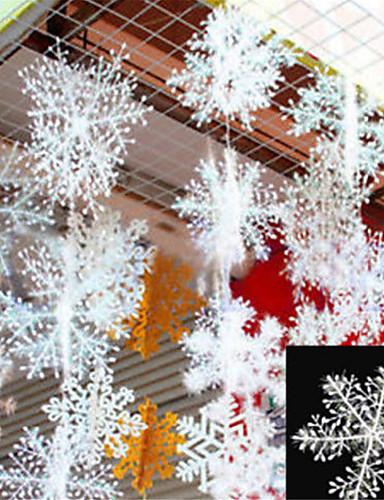 billige Julens andre ornamenter-30pcs christmas snow flakes hvite snøfnugg ornamenter ferie juletre decortion festival fest