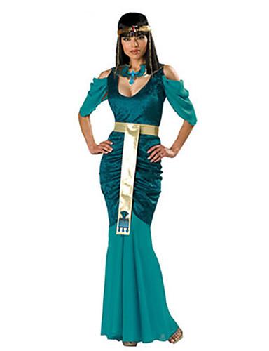 povoljno Maske i kostimi-Egipatski kostimi Queen Cosplay Nošnje Kostim za party Žene Halloween Festival / Praznik Terilen Žene Karneval kostime Jednobojni