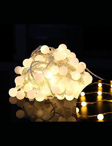 preiswerte Feiertags-Dekorations-Licht-10m Leuchtgirlanden 100 LEDs LED Diode Warmes Weiß Dekorativ / Verbindbar 220-240 V 1 set / IP44