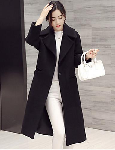 Mujer Color Sólido Abrigo 2019 Formal Estilo Clásico 5265811 UfqUx1
