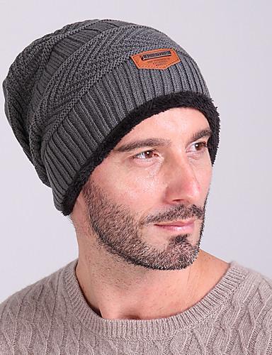 cheap Ski & Snowboard-Ski Skull Cap Beanie / Hat Ski Hat Men's Thermal / Warm / Windproof Snowboard Wool Fabric Solid Colored Winter Sports Winter