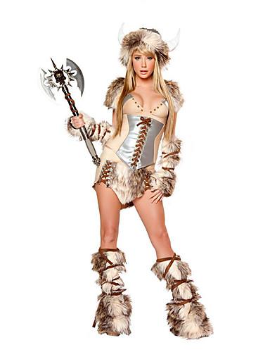 billige Sexy Uniformer-Dame Soldat / Kriger Kjønn Cosplay Kostumer Party-kostyme Leopard Kjole Mer Tilbehør