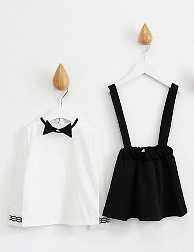 048d8c96daa2 Κορίτσια Φόρεμα   Σετ Ρούχων Καθημερινά Βαμβάκι Μονόχρωμο Άνοιξη   Φθινόπωρο  Λευκή 5258625 2019 –  17.95