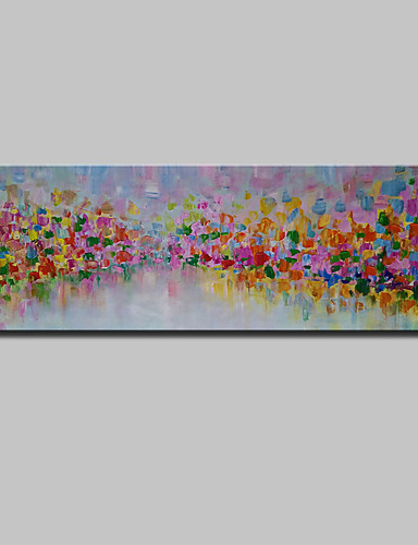 preiswerte Abstrakte Landschaftsbilder-Hang-Ölgemälde Handgemalte - Landschaft Modern Mit der Fassung / Gestreckte Leinwand