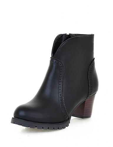 ae901271137 [$49.99] Women's Synthetic / Patent Leather / Leatherette Spring / Fall /  Winter Cowboy / Western Boots / Combat Boots Heels Walking Shoes Chunky  Heel ...