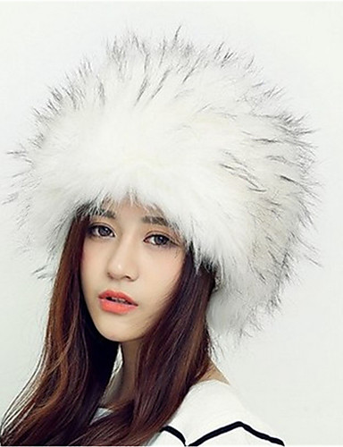 cheap Winter Accessories-Women's Fashionable Jewelry Acrylic Floppy Hat-Animal Classic Style Fall Winter Black Gray Camel / White / Brown / Holiday