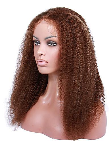 povoljno Perike s ljudskom kosom-Ljudska kosa Perika s prednjom čipkom bez ljepila Lace Front Perika stil Brazilska kosa Kovrčav Perika 130% 150% Gustoća kose 14-18 inch s dječjom kosom Ombre Prirodna linija za kosu Afro-američka