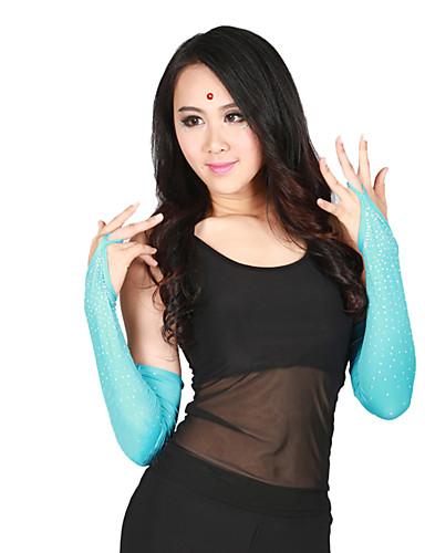 levne Shall We®-Taneční příslušenství Taneční rukavice Dámské Výkon Polyester Křišťály / Bižuterie Poloviční rukáv Rukavice / Latinské tance