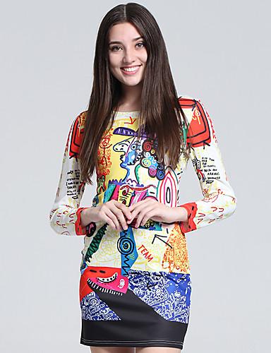 Mujer Corte Bodycon Vaina Camiseta Vestido Fiesta Cóctel Discoteca Tallas  Grandes Sexy Simple Bonito ddc813a1b882
