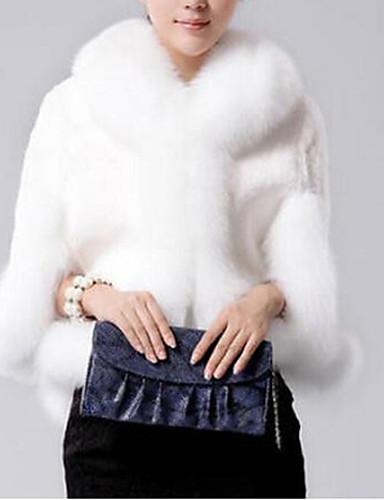 Womens Fox Collars Acura Rabbit Fur Shawl Fur Coat - Acura clothing