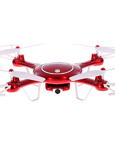 preiswerte Spielzeug & Hobby Artikel-RC Drohne SYMA X5UW 4 Kan?le 6 Achsen 2.4G 720P Ferngesteuerter Quadrocopter LED-Lampen / Ein Schlüssel Für Die Rückkehr / Auto-Takeoff Ferngesteuerter Quadrocopter / Fernsteuerung / Kamera