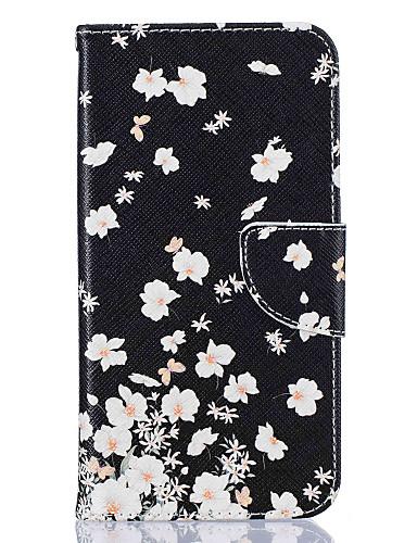 Case สำหรับ Samsung Galaxy J5 (2016) / J5 / J3 Wallet / Card Holder / with Stand ตัวกระเป๋าเต็ม ดอกไม้ Hard หนัง PU