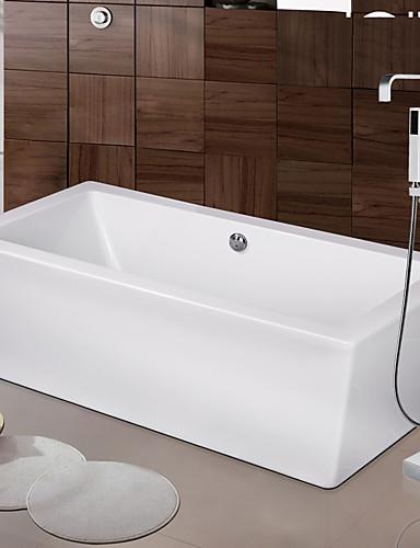 preiswerte Seitendüse-Moderne Art déco/Retro Modern Badewanne & Dusche Wasserfall Verbreitete Bodenstand Keramisches Ventil Einhand Ein Loch Chrom,