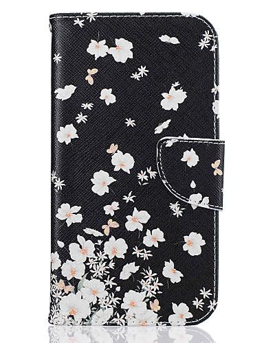 Case สำหรับ Motorola Moto G4 Plus / MOTO G4 Wallet / Card Holder / with Stand ตัวกระเป๋าเต็ม ดอกไม้ Hard หนัง PU