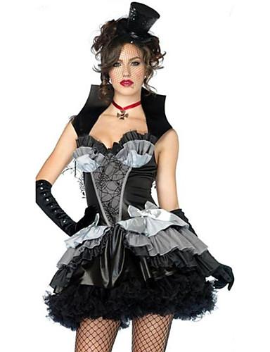 preiswerte Karriere Uniformen-Dienstmädchenuniform Karriere Kostüme Cosplay Kostüme Party Kostüme Damen Film Cosplay Hausmädchenuniform Kleid Hut Halloween Karneval Polyester