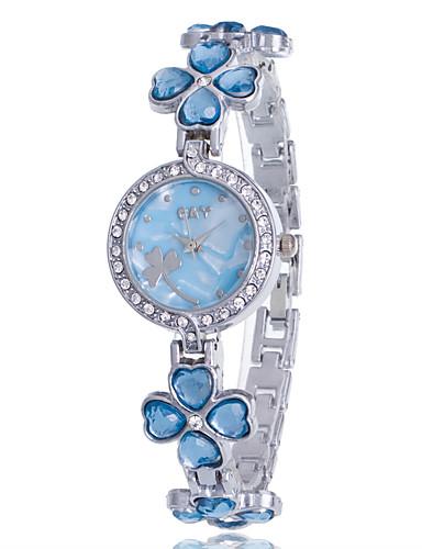 olcso hu_Floral Watches-Női Karkötőóra Diamond Watch Kvarc hölgyek Strassz Ezüst Analóg - Fehér Bíbor Rózsaszín Egy év Akkumulátor élettartama / utánzat Diamond / Jinli 377