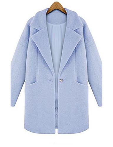 Casual hétköznapi Egyszerű   Csinos   Utcai sikk Őszi   Téli-Női Kabát 3527f54627