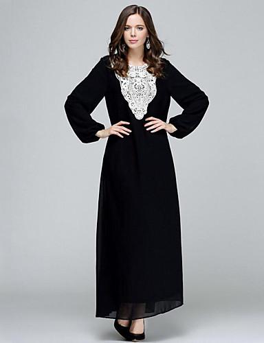 Γυναικεία Μεγάλα Μεγέθη Βίντατζ Σιφόν Φόρεμα 9d42e060d28