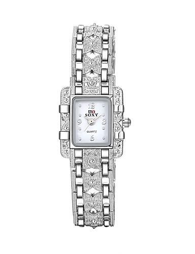 สำหรับผู้หญิง นาฬิกาใส่ลำลอง นาฬิกาแฟชั่น นาฬิกาสร้อยข้อมือ นาฬิกาอิเล็กทรอนิกส์ (Quartz) เงิน 30 m กันน้ำ ระบบอนาล็อก สุภาพสตรี เสน่ห์ ไม่เป็นทางการ สง่างาม - ขาว สีดำ