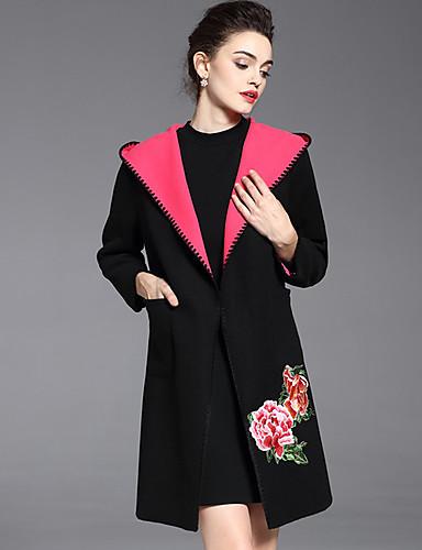 Γυναικεία Παλτό Εξόδου   Καθημερινά   Μεγάλα Μεγέθη Βίντατζ   Κινεζικό στυλ  Μονόχρωμο   Φλοράλ 896e0615946