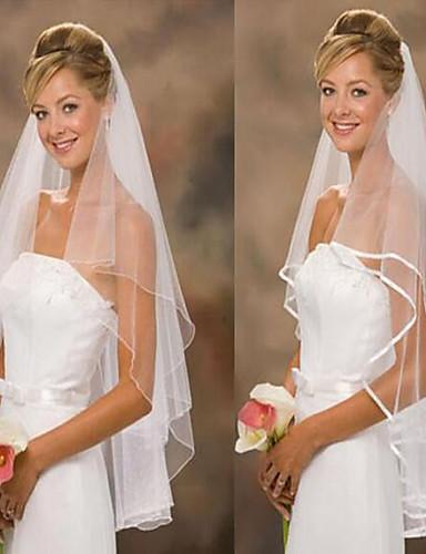 Two-tier คลาสสิกและถาวร / การแต่งงาน ผ้าคลุมหน้าชุดแต่งงาน ผ้าคลุมศรีษะสำหรับชุดแต่งงาน / เครื่องประดับสำหรับงานแต่งงาน กับ Tulle A-line
