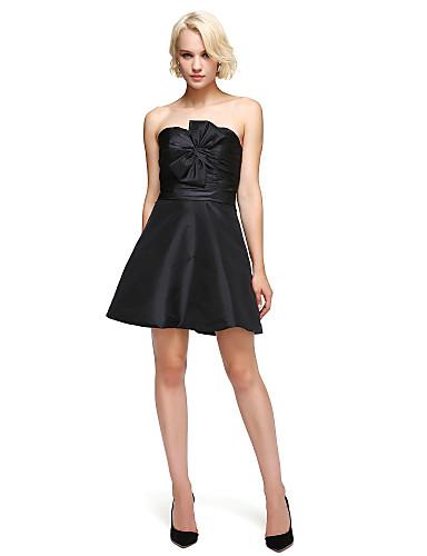 levne Šaty pro slavnostní příležitosti-A-Linie / Rozevláté Srdcový výstřih Krátký / Mini Taft Šaty s Mašle podle TS Couture®
