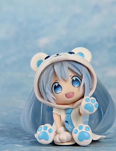 povoljno Anime cosplay-Anime Akcijske figure Inspirirana Vocaloid Hatsune Miku PVC 7 cm CM Model Igračke Doll igračkama