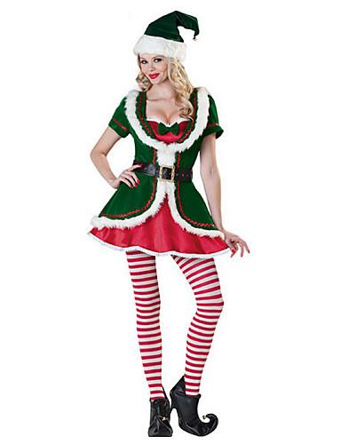 preiswerte Weihnachtskostüme-Santa Anzüge Cosplay Kostüme Sexy Uniformen Damen Terylen Cosplay Accessoires Weihnachten / Karneval Kostüme / Hut