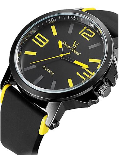 b4a8dcf96a2 V6 Homens Relógio Esportivo Relógio Militar Relógio Elegante Relógio de  Moda Relógio de Pulso Quartzo Quartzo Japonês Impermeável Silicone de  5346761 2019 ...